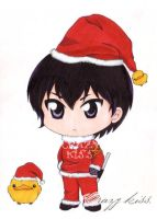 Kyoya Hibari Santa copic color style by CrezyKiss