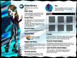 Sirena Sorcery Monster High Profile OC by Sarcasticyetsexy