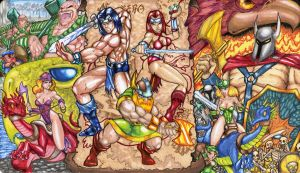 GoldenAxe CCG Mat 3 by StriderSyd