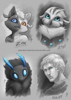 Gift - Sketch Portraits by Red-Sinistra