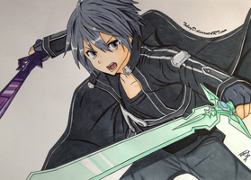 Kirito - The Beater COPIC by TobeyD