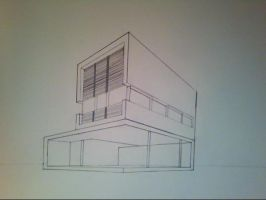 2 Point Perspective House by moviefan6896