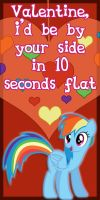 Rainbow Dash Valentine Card by Kurenai-Hio
