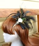 Bird skull fascinator experiment 1 by arcticphoenixstudios
