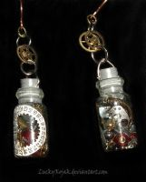 Time in a bottle earrings by LuckyKojak