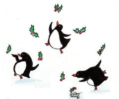 dancin' penguins with holly 1 by Hillary-CW