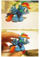 Rainbow Dash Mini sculpt by demonic-black-cat