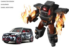 Kia Burner transformers style by xjager513