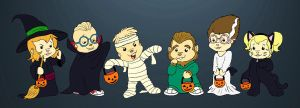 Chibi-Munks Halloween by BoredStupid100