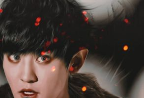Elf Chanyeol from the Fire Kingdom by bubble-min