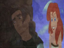 Jim Hawkins and Ariel by Marras-TheBlackRose