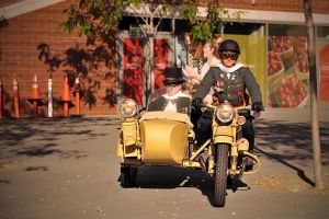 The Captain, The Colonel and a Motorcycle by AethertechIndustries