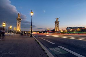 Sunset in Paris by Den-Lilla-Rose