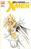 Emma Frost Sketch Cover - Heroes 2012 by JediDad