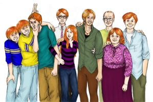Weasley Family portrait by BuzDeeZul