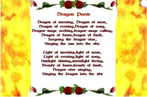 Dragon Poem by sgoheen06