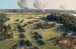 Morning of the Battle of Poltava. Redoubts. by art-bat