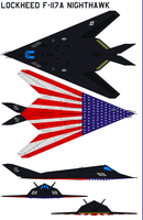 F-117A Nighthawk Shows Colors by bagera3005