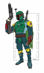 Bruce Timm style Boba Fett Coloration by Longscope
