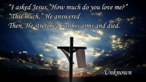 I asked Jesus how much do you love me poem by JanetAteHer