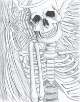 skeletal angel by perfect-perversion