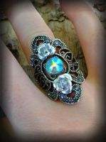 Heavenly Swarovski Ring by ArtByStarlaMoore