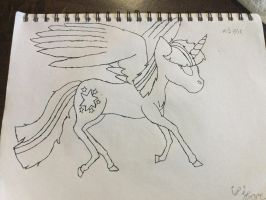 MLP real horses (twilight) {inked} by Mewvulpix25
