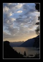 Sunset in Thun by xanderking