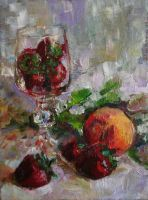 Strawberries in a Wineglass by ShastinaHell-N