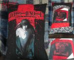 Death Note Pillow (Re purposed tshirt) by Blargmuffins