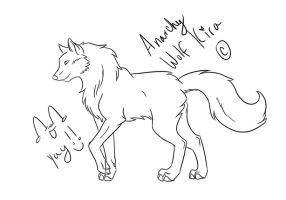 How to draw a wolf -video- by AnarchyWolfKira