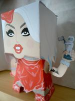 Lady Gaga VMA Papercraft by studioofmm