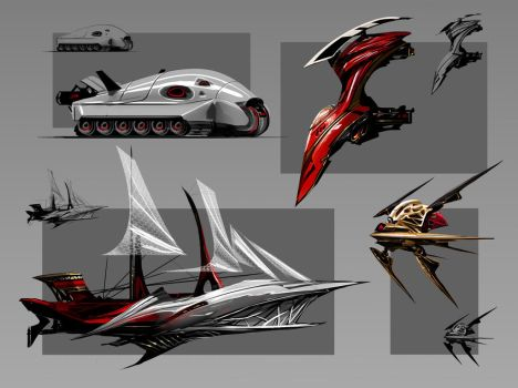 Dracula vehicles 2 by SimonDubuc