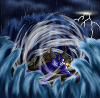Fighting the Storm by Cattensu