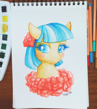 Coco Pommel watercolours by Auriaslayer