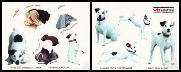 Wendy's Kid's Meal - Wishbone Photo Book Stickers by The-Toy-Chest