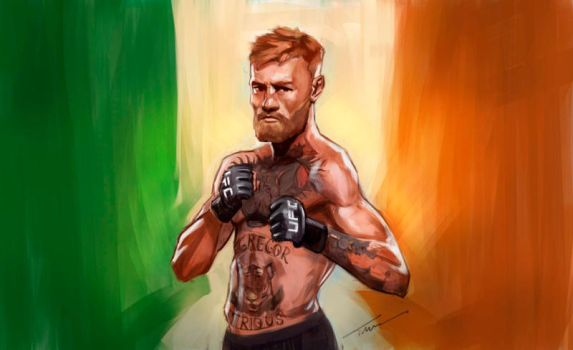 Conor McGregor Painting by Timbono9
