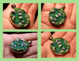 Secret Pond - Pendant by Ganjamira