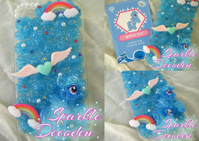 Decoden: Sparkling MLP Rainbow Dash iPhone 4 Case by Rose-McSugar