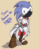 Sonic Auditore the Hedgehog by BleederDoll