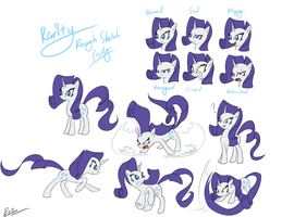Rarity Rough Study by Reikomuffin
