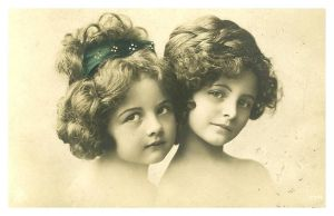 vintage couple of girls I by MementoMori-stock