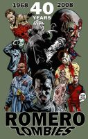 40 YEARS OF ROMERO ZOMBIES by MalevolentNate