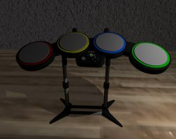 Rock Band Drums by 3dmodeling