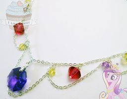 Princess Cadence- Crystal Empire Inspired necklace by ilikeshiniesfakery