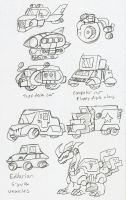 Eddarion: City Vehicles concept by BlueIke