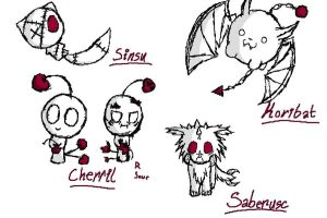 My many creatures xD by Shrew-WiFi