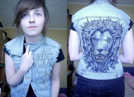 AOKAD denim vest by mrsxbenzedrine