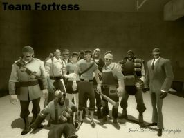 Team Fortress Group Photo by JackAxeWell