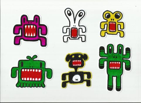 Alien Stickers by Fobiart
